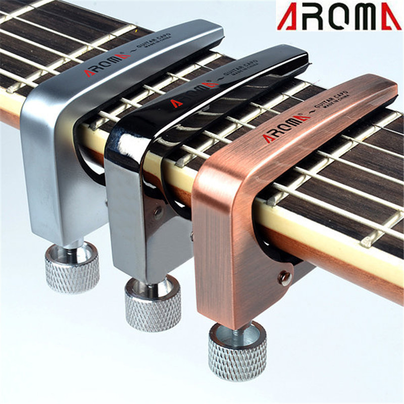 цена Aroma AC-11 Zinc Alloy Guitarra Guitar Capo for Acoustic Electric Bass Guitar Musical Instruments Parts Accessories
