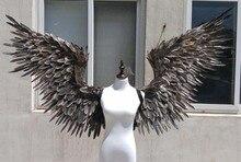 Удивительные Серый Дьявол крылья для косплэй фотографии игры дисплей игры стрельба реквизит EMS Бесплатная доставка