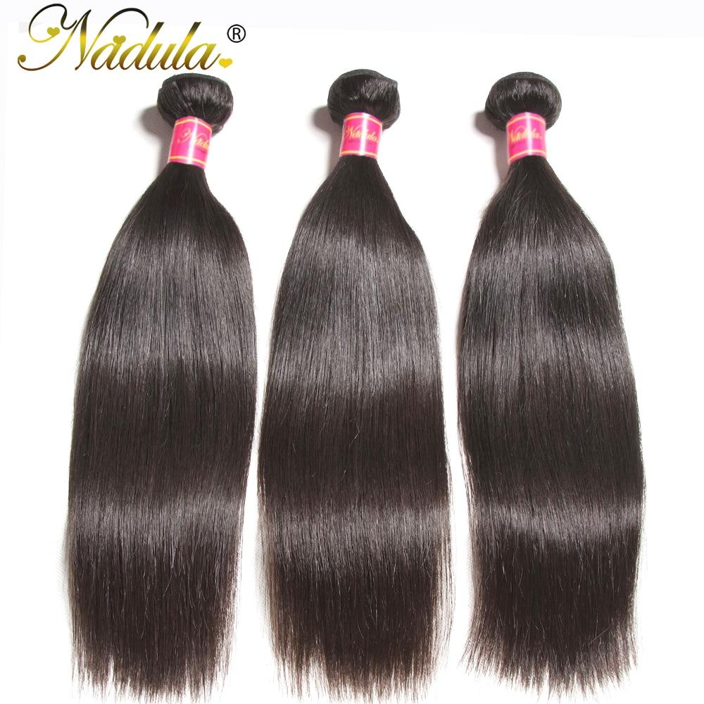 Nadula Hair 3 / 4ks / lot peruánské rovné vlasy Weaves 8-30INCH - Lidské vlasy (pro černé)