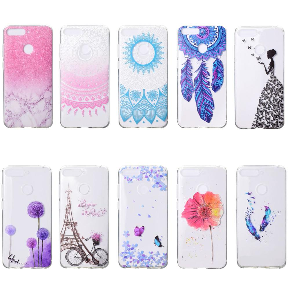 high quality <font><b>Silicone</b></font> TPU Case For <font><b>Huawei</b></font> <font><b>Y5</b></font> Y6 Y7 Y9 2018 <font><b>Y5</b></font> Y7 Pro Y9 <font><b>2019</b></font> phone cases Luxury Printed Back Cover Coque funda image