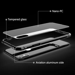 Image 3 - آيفون X 7 8 Plus حقيبة لهاتف أي فون 11 برو ماكس الأسود واقية الطائرات الوفير المعادن برغي هاتف محمول مع شفاف عودة الزجاج المقسى