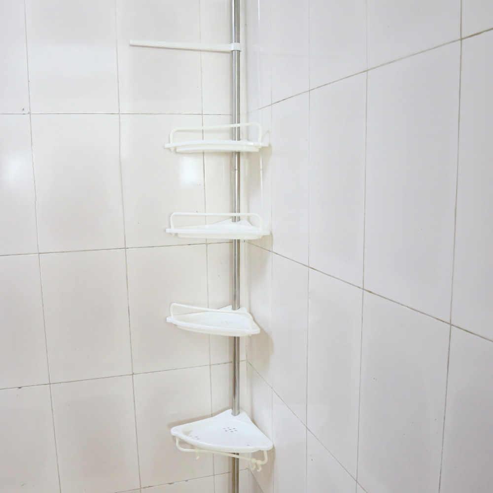 4 Tier Telescopic Bathroom Corner Shelf Rack Shower Caddy Storage Bathroom Tools Accessory Bathroom Shelves Aliexpress
