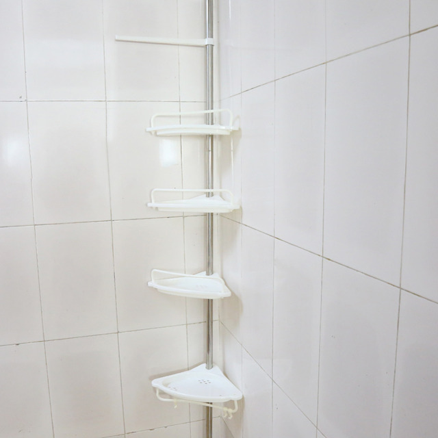 4 Tier Telescopic Bathroom Corner Shelf  Rack Shower Caddy Storage Bathroom Tools Accessory