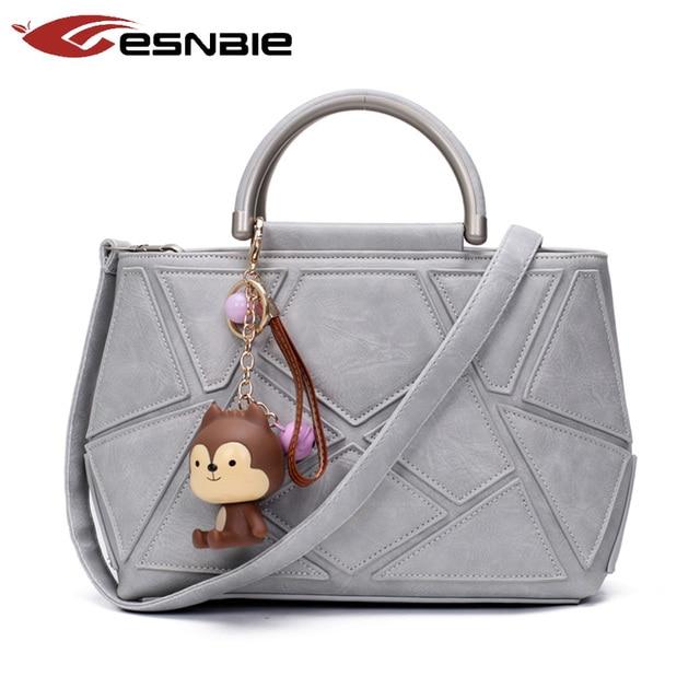 Women Bag Fashion  female 2016 Splice High Quality Leather Women's Handbag Shoulder Crossbody Messenger Bags