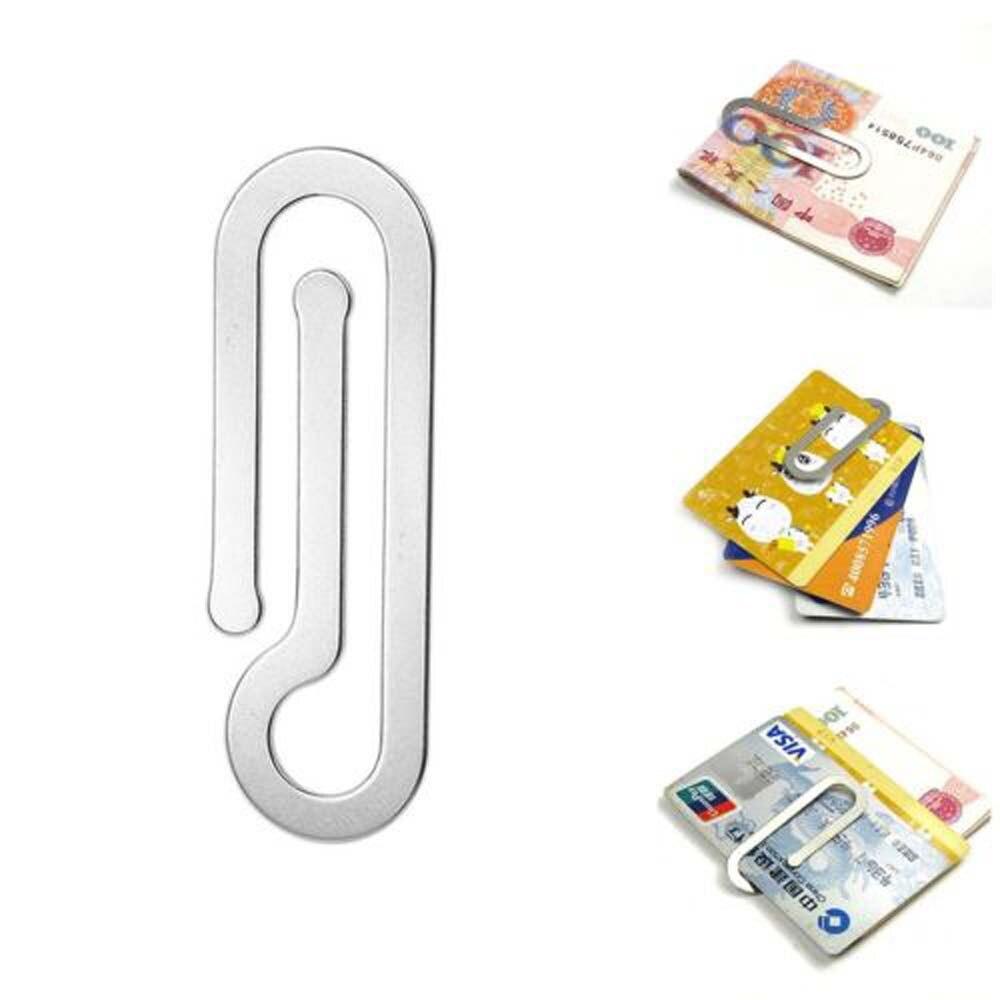Clip de Metal de acero inoxidable multifunción para dinero de hombre, Clip de papel, carpeta, portatarjetas de crédito, portatarjetas, Clip plateado