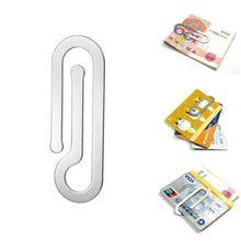Pinces à billets multifonctions en métal pour hommes, en acier inoxydable, dossier en papier, carte de crédit, porte-monnaie, Clip argenté