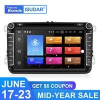 Isudar Автомобильный мультимедийный плеер Android 9 gps 2 Din автомобильное радио аудио авто для VW/Volkswagen/POLO/PASSAT/Golf 8 ядер ram 4G USB DVR
