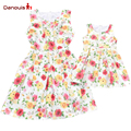 2016 Newest Family Matching Outfits Mother Daughter Dresses Family Flower Baby Dress Women Dress Family Look Family Girl Clothes