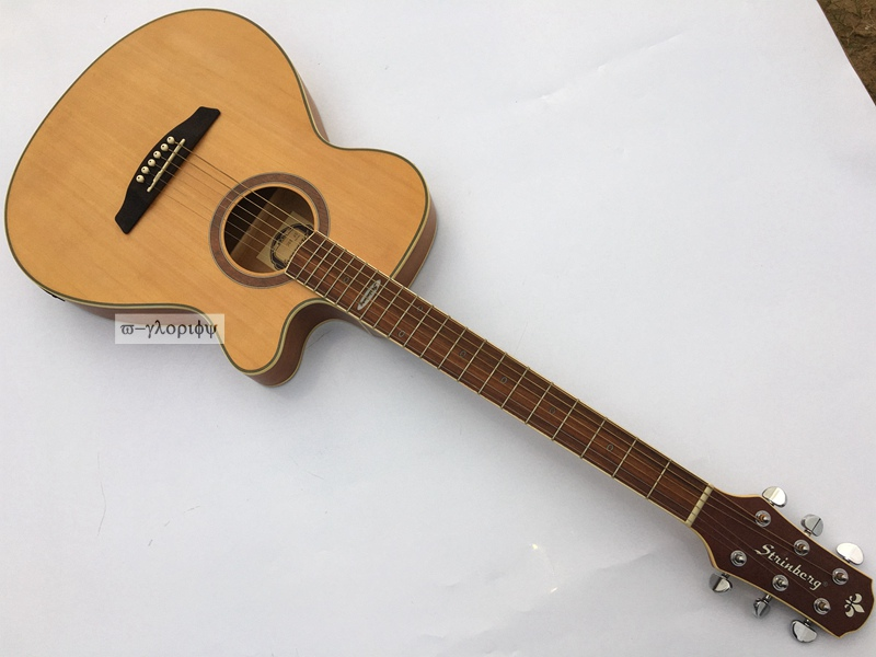 все цены на  thin body cut-way electric acoustic stinber guitar  онлайн
