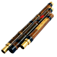 High Quality Professional Chinese Vertical Bamboo Flute Xiao Woodwind Musical Instrument Key of F/G Dizi 3 Section Flauta Xiao