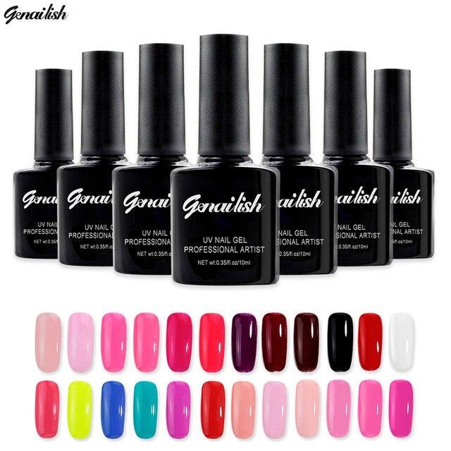 Genailish - УФ Гель лак Гель для ногтей Гель лак для ногтей Гель лаки 168 Цветов 10 Мл./шт.