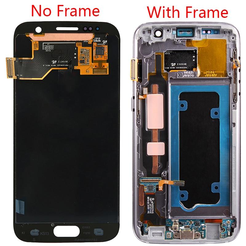 Image 2 - S7 originais lcd para samsung galaxy s7 quadro de tela lcd super  amoled display para samsung s7 g930f lcd digitador da tela toqueLCDs de  celular