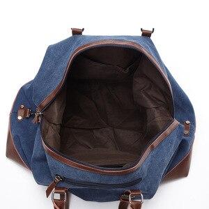 Image 4 - Scione בד עור גברים לשאת על מזוודות תיק גברים תרמיל שקיות נסיעות Tote גדול בסוף השבוע תיק לילה זכר תיק