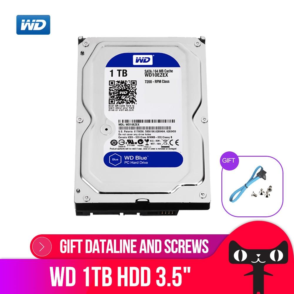 WD Bleu 1 tb 3.5 SATA 6 gb/s HDD sata disque dur interne 64 m 7200PPM disque dur de bureau hdd pour PC WD10EZEX