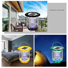 Solar LED intelligent light control electric flies killer Insect Killer Light Garden Lawn mosquito killer light Waterproof lamp(China)
