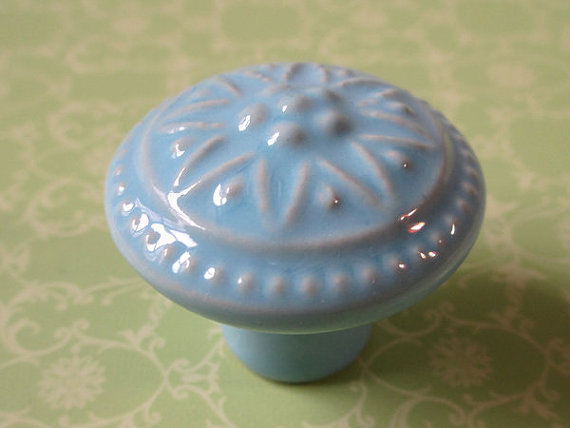 decorative kitchen cabinet knobs ヾ ノdecorative dresser knob drawer 웃 유 blue blue rustic 6498