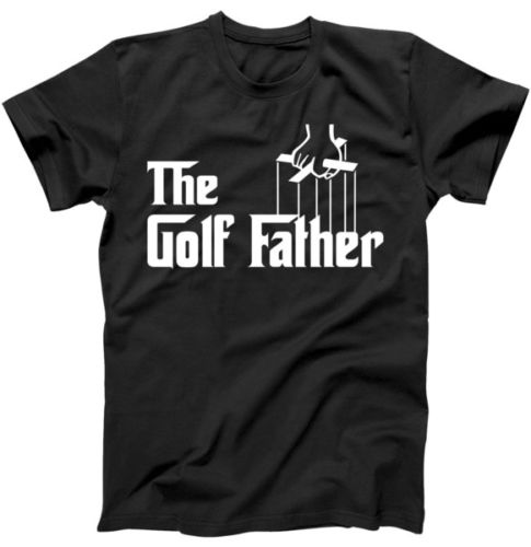 MenS O-Neck Printed Tee Shirt The Golfed Father T-Shirt Gift for Fathers Day Shirt