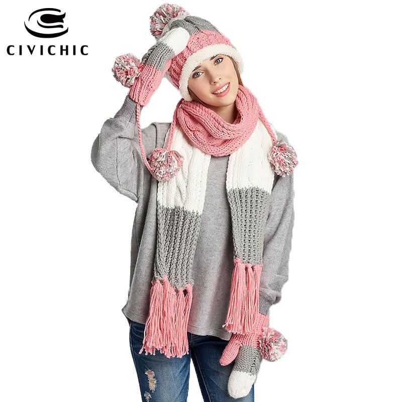 ộ_ộ ༽Civichic elegante chica regalo invierno colorido punto ...