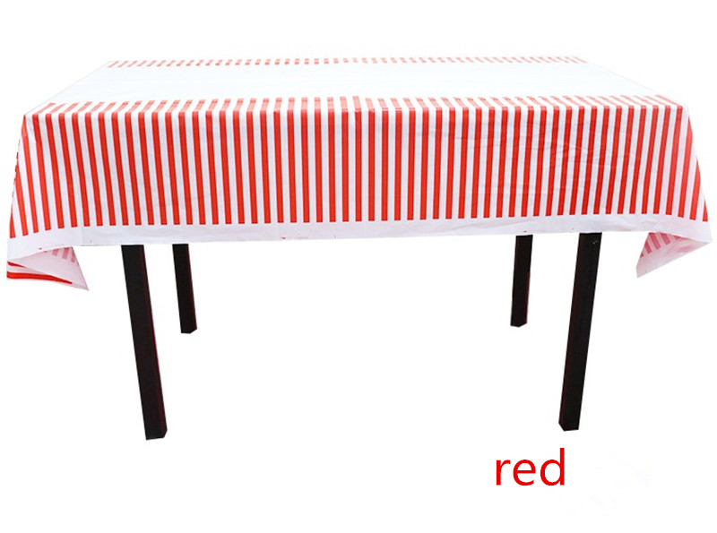 Colorful Stripe Plastic Table Cloth Kids Birthday Party Decoration Baby  Shower Decoration Supplies Disposable Tablecloth