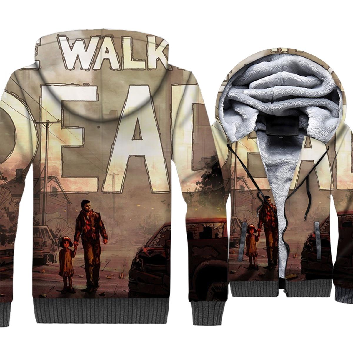 New Arrival Men 39 s Sweatshirts For Autumn Winter Zipped Coat 2018 Hot Fashion Hip Hop Hoodie The Walking Dead Men 39 s Hoddies Tops in Hoodies amp Sweatshirts from Men 39 s Clothing