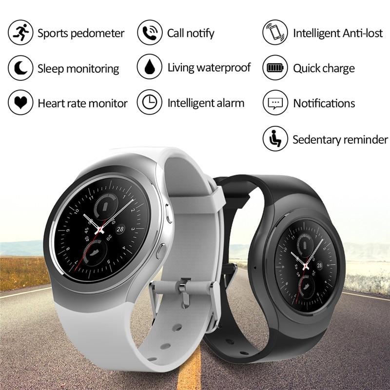 imágenes para Bluetooth Reloj Inteligente AS2 S2 Smartwatch reloj BISEL GIRATORIO para apple iPhone Samsung para Android huawei xiaomi lenovo
