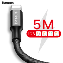 Baseus USB Cable For iPhone Xs Max Xr X 11 8 7 6 6s 5s iPad