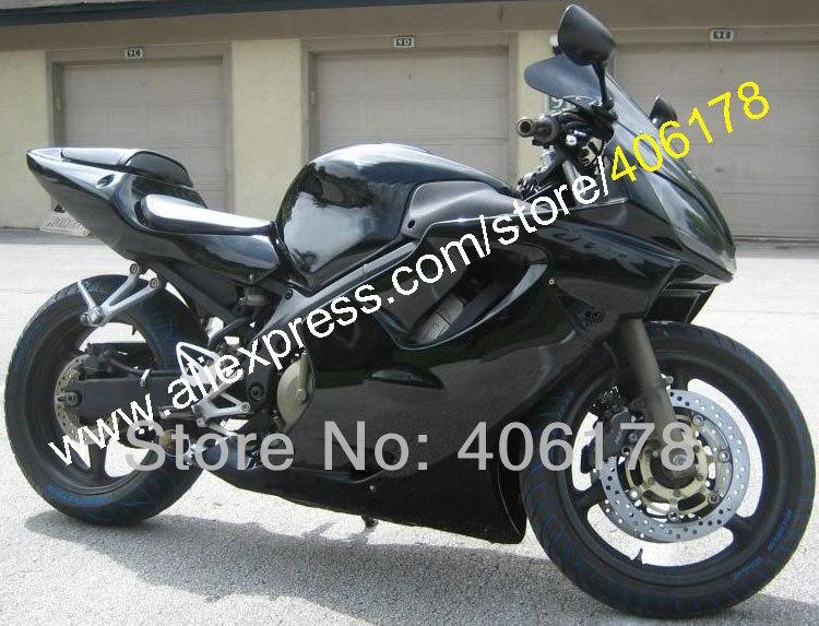 Hot Sales,Fairing for HONDA CBR600F4i 01 02 03 CBR 600 F4i CBR600 2001 2002 2003 full black Fairings kit (Injection molding)