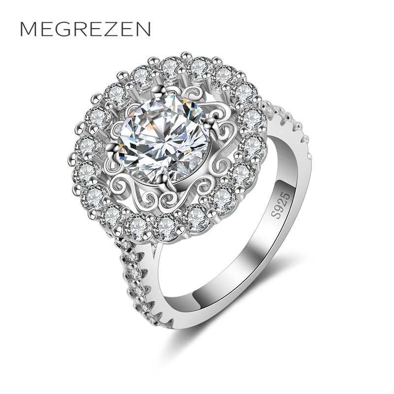 Engagement Ring For Sale Grande Prairie: Big Wedding Rings For Women Jewelry Accessories Silver