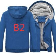 B2 толстовки мужские/женские толстовки со специальным принтом флис утолщение осень зима мужской теплый пальто брендовая Куртка Топы