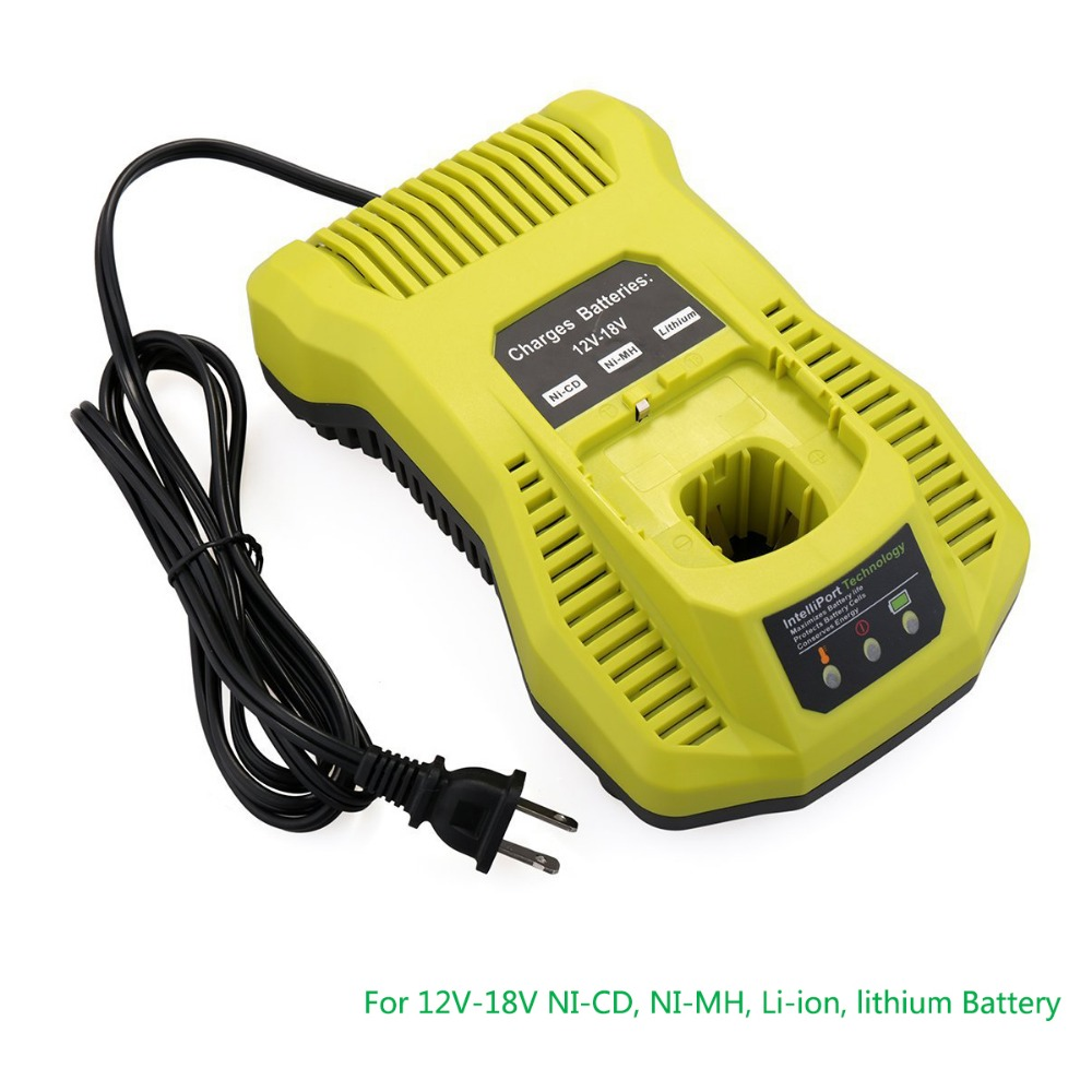 Replacement Power tool Battery Charger P117 For RYOBI 12V-18V NI-CD, NI-MH, Li-ion, lithium Battery. High quality ! high quality brand new 3000mah 18 volt li ion power tool battery for makita bl1830 bl1815 194230 4 lxt400 charger