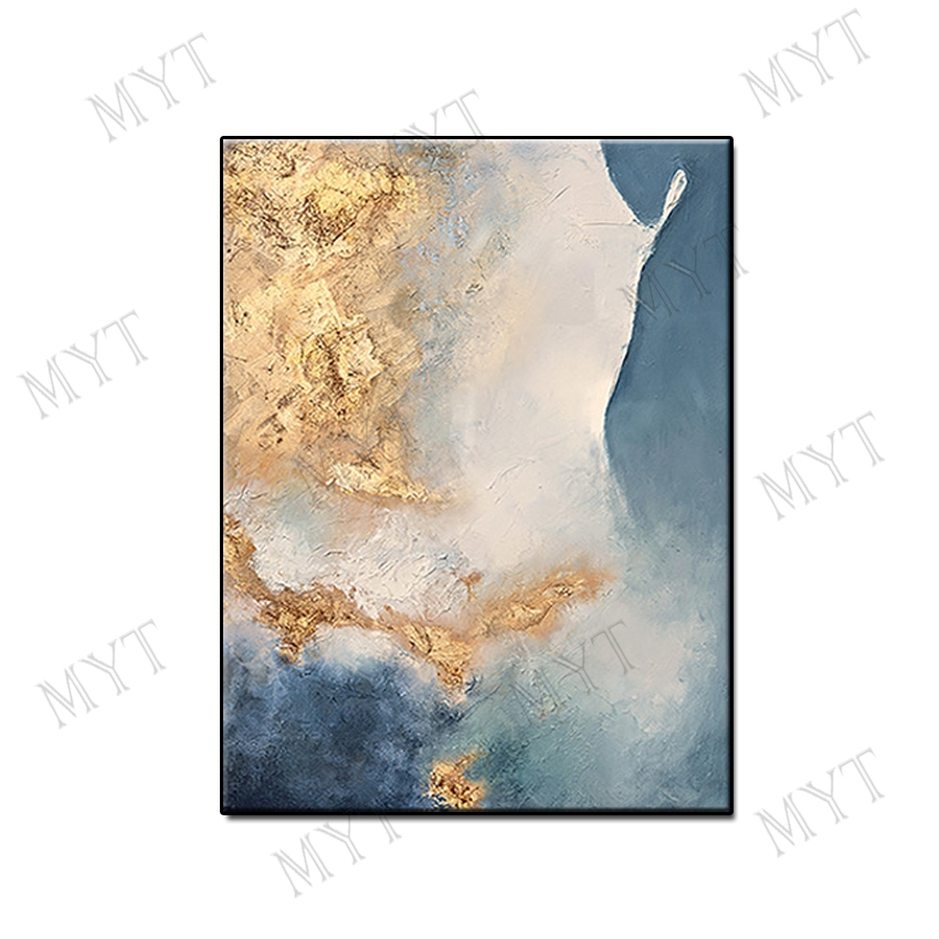 Fashion modern gilding wall art home decor Hand painted Abstract Oil Painting on canvas wall picture for living room no framed