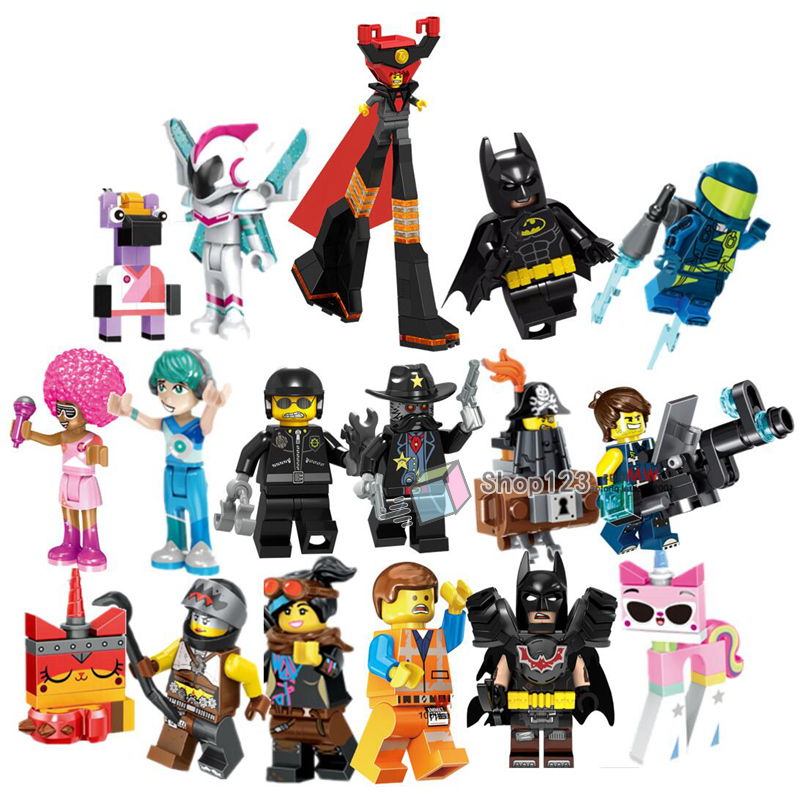 Movie Emmet Wyldstyle Disco Kitty Metalbeard Sheriff Gordon Zola Bad Cop Lord Business Vitruvius Unikitty Building Block Toys(China)