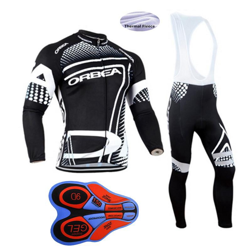 Long Sleeve Cycling Set 2017 Mtb Jersey Bike Wear Clothes Ropa Ciclismo Winter Thermal Fleece Orbea Cycling Clothing Men 2017 ale cycling jersey women cycling clothing set breathable bike jerseys bicycle mountain wear mtb clothes ropa ciclismo e1103