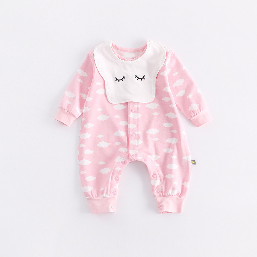 peninsula baby infant boy girl long sleeve thick cotton keep warm  jumpsuit cute cartoon cloud Toddler romper soft baby costume 2016 new warm cotton baby hat girl boy toddler infant kids caps soft cute hats cap beanie baby beanies accessories d1