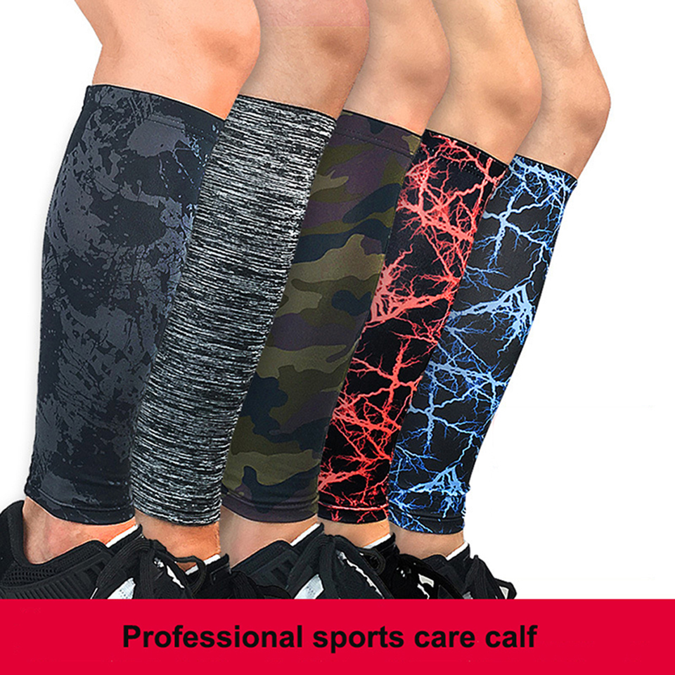 1PCS Camouflage Compression Leg Sleeve Training Elastic Knee Calf Cycling Leg Warmers Running Basketball Football Calf Protect