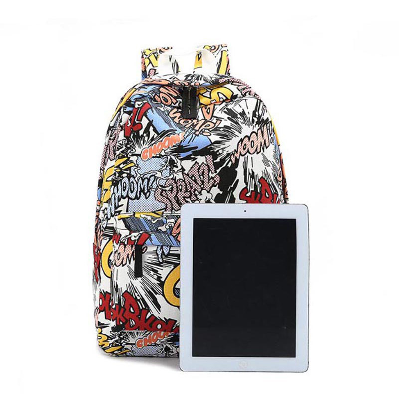 c570761a8979 ᗛМодные Обувь для девочек граффити рюкзак новый летний мультфильм ...