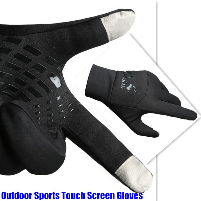 500P! Winter  Lightweight Running 2-Finger Touch Screen Gloves For Men&Women Jogging Football Cycling,Non-slip,Waterproof