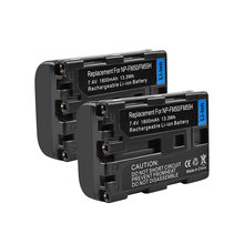 2X7,4 V 1800 мА/ч, NP-FM50 NP FM50 NPFM50 Перезаряжаемые Батарея для sony DSC-S30 S70 S85 F717 F828 A100 TRV950 SR1 CD400 PM081 L25(China)
