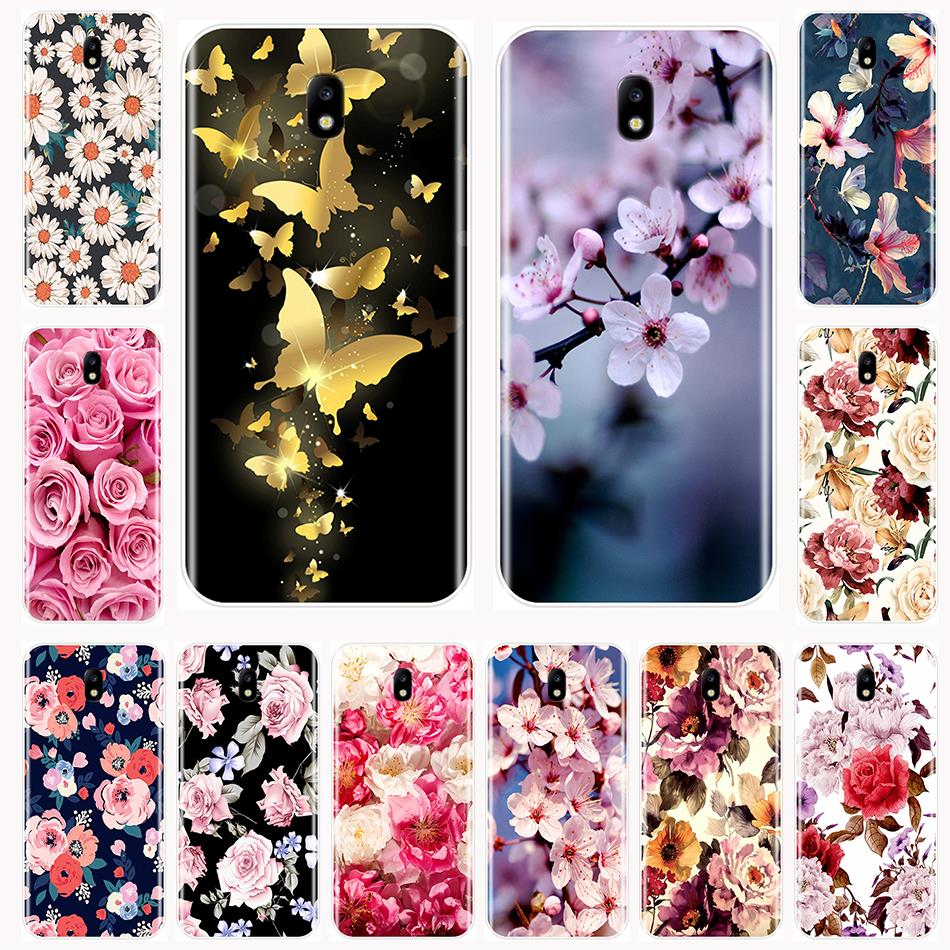 Phone Case Samsung Galaxy J2 core J5 J7 Prime Flowers Soft TPU Silicone Back Cover J1 mini J3 J4 J5 J6 J7 J8 Plus 2016 2017 2018 image