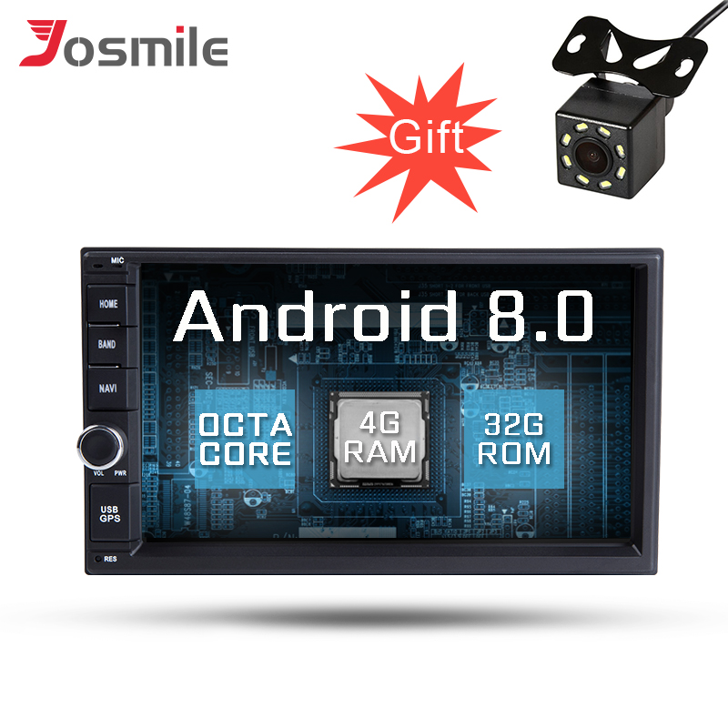 Android 8.0 2 Din Universal 7 inch Car Multimedia GPS Navigation 2GB RAM 32GB ROM Microphone OBD2 USB DVR NO DVD Radio Player
