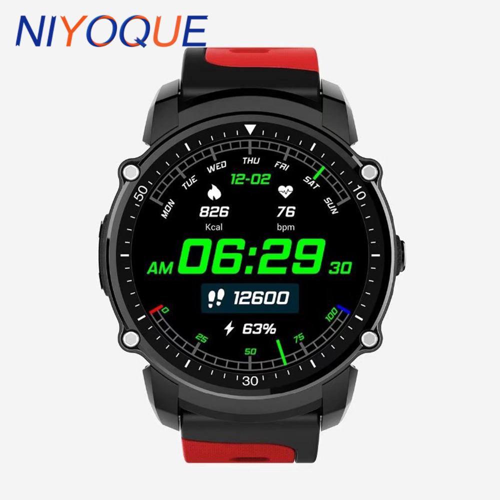 NIYOQUE GPS Bluetooth Smart Sport Fitness Watch FS08 Smartwatch Bracelet Fitness tracker Waterproof Heart rate Compass Altimeter fs08 gps smart watch mtk2503 ip68 waterproof bluetooth 4 0 heart rate fitness tracker multi mode sports monitoring smartwatch