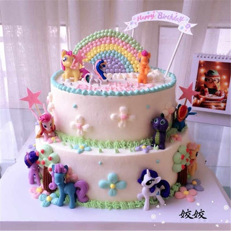 لعبة الحصان كعكة توبر هدايا العودة للأطفال عيد ميلاد الحزب الامدادات كعكة تزيين الطفل الفتيات ألعاب أطفال كب كيك القبعات العالية
