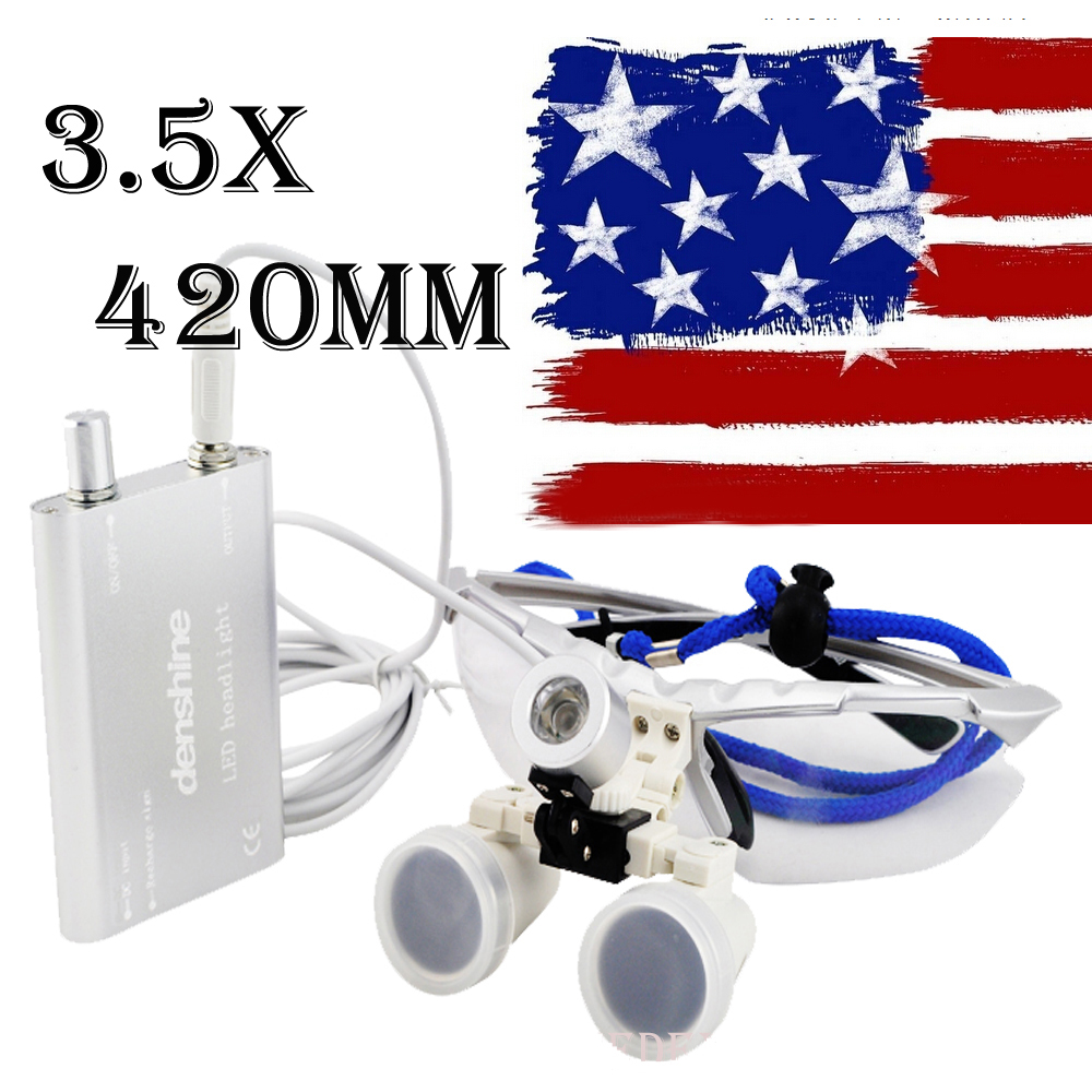2-7 Days Delivery to US 3.5X420mm SY-32 Surgical Medical Binocular Loupes Optical Glass Silver + LED head light Big Sale atamjit singh pal paramjit kaur khinda and amarjit singh gill local drug delivery from concept to clinical applications