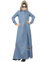 Plus size long beautiful women denem dress