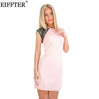 Tofashion 2016 Fashion Summer Women Lace Sleeve Dresses White Pink Bule 3 Colour O Neck Casual