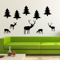 DIY Large Tree Deer Animals Removable Wall Decal Vinyl Stickers Art Decor Baby Wall Decals Nursery
