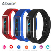 Aihontai NFC Bluetooth HB02 Smart band bracelet Heart Rate Monitor IP67 waterproof sleep tracker Wristband for IOS Android phone