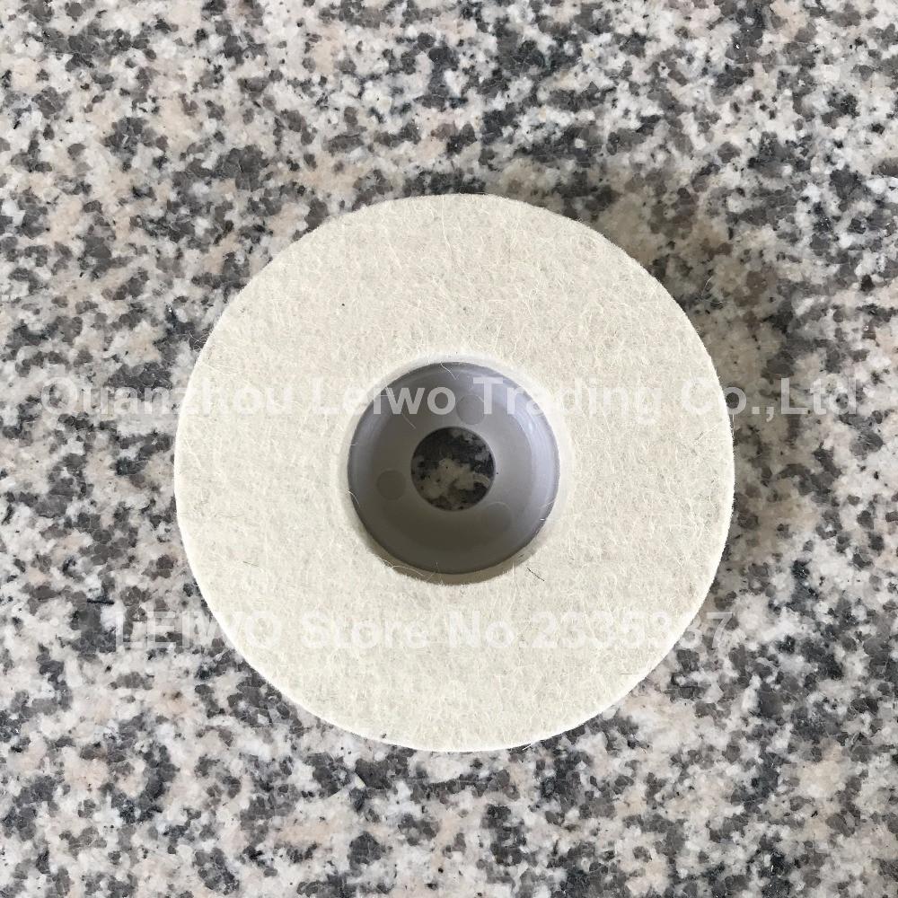 Radient Wool Felt Polishing Wheel 4 Inch (100 Mm) Marble Abrasive For Angle Grinder Work With Polishing Wax Or Grinding Polishing Paste