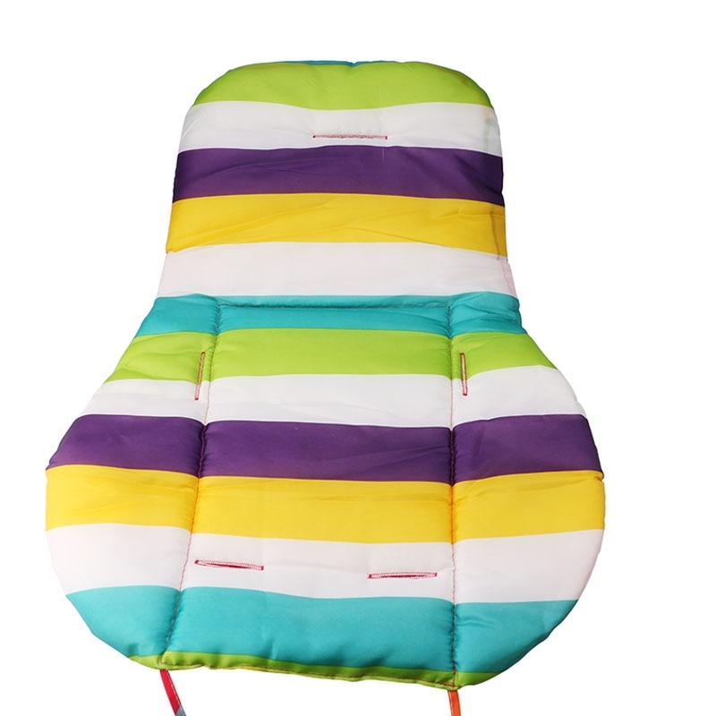 New Baby Seat Cushion Chair Kids Car Umbrella Cart Cushion Waterproof Colorful Oxford Warm Thick Cotton Buttocks Seat Cushion