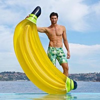 180CM Yellow Inflatable Banana Pool Rafts Giant Floats For Adult Pool Hot Summer Swimming Air Mattress Water Toy Boia Piscina